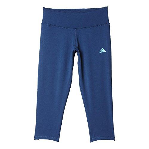 adidas Damen Leggings Basics 3/4 Tights, Mineral Blue S16/Shock Green S16, S
