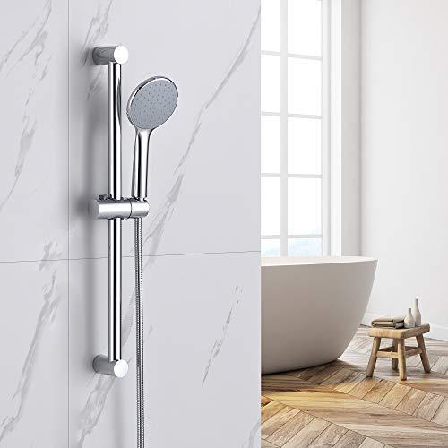 Auralum Juego de barra de ducha ABS con barra de ducha y manguera de ducha de 150 cm, sistema de ducha para bañera y baño