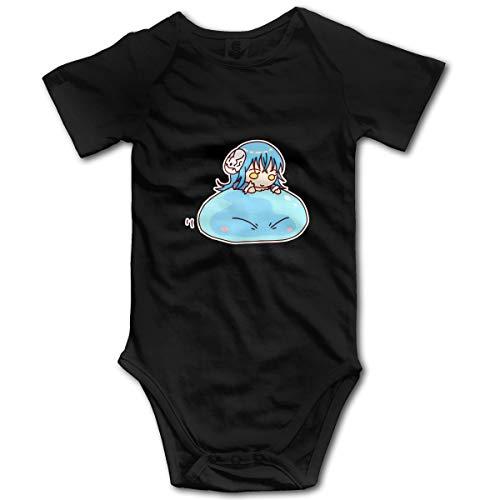 Gintamade Combinaison à manches courtes pour bébé garçon Rimuru Tempest That Time I Got Reincarnated As A Slime - Noir - 2 mois