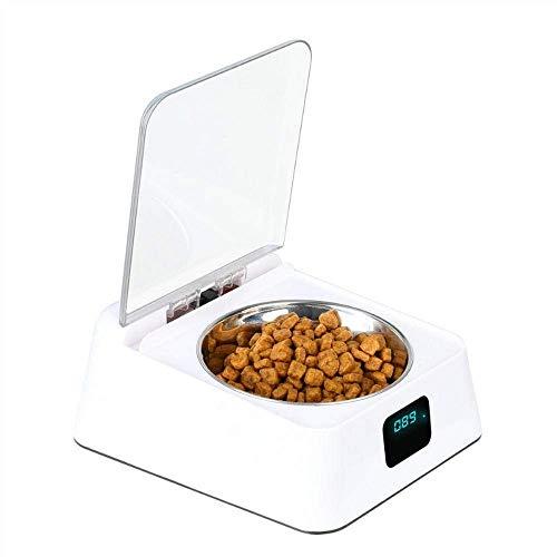 FAOAOTT Alimentador automático para Mascotas, alimentador Inteligente, Sensor infrarrojo, tazón de Tapa Abierta automática, dispensador de Comida para Perros y Gatos a Prueba de Humedad, Anti-ratón