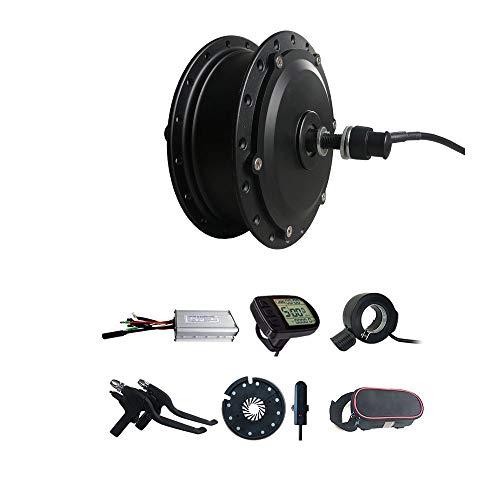 Kit de conversión de Bicicleta eléctrica de 36 V / 48 V 500 W, Motor de rotación Trasera, buje sin Montura, Motor de Engranaje de Rueda, 16/20/24/26 / 27,5/28/29 Pulgadas (36V 500W 24inch)