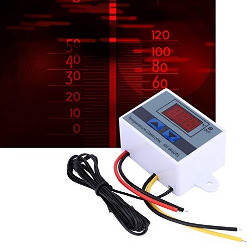 10A / 15A DC 12V Mini termostato LED controlador de temperatura con sonda de Sensor termosta electrónico de refrigeración de calefacción programable