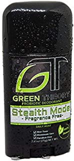 Green Theory Probiotic Natural Deodorant - Stealth Mode Fragrance-Free | Unscented, Non-Toxic, Aluminum-Free, Non-Toxic | Unisex | 2.65 Ounce Solid Stick