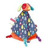 Fehn 055139 Doudou Deluxe Color Friends – Appareil photo de jeu, aide au sommeil et doudou en peluche avec attache tétine pour câliner et aimer – pour bébés et enfants à partir de 0 mois