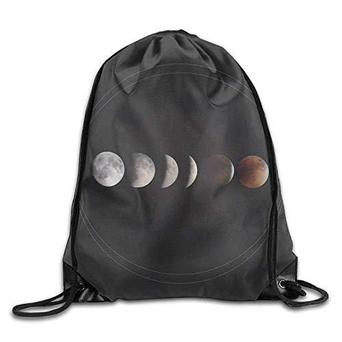 Etryrt Prämie Turnbeutel,Sporttaschen, Total Lunar Eclipse Phenomenon Men & Women Drawstring Backpack Travel Bag
