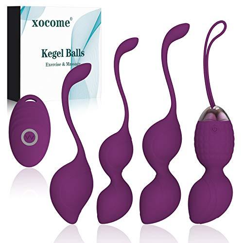 Upgrade 2 in 1 Kegel Pesi per esercizi e massaggiatore Ben Wa Balls - Medico consigliato per il controllo della vescica e esercizi per il pavimento pelvico Kegel Balls Beginners & Tightening (Purple)