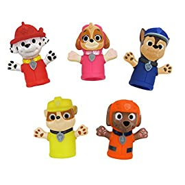 Nickelodeon Paw Patrol Finger Puppets - Party Favors, Educational, Bath Toys 4 Encourages imagination and learning Educational and playful Bright colors and friendly faces