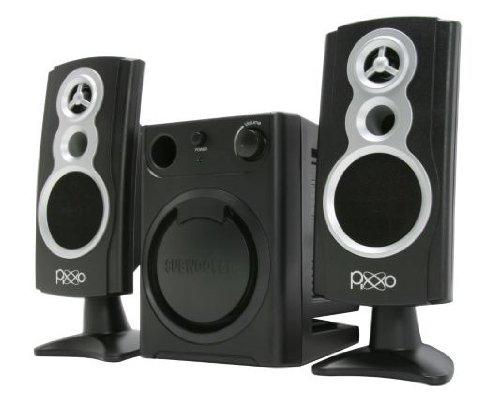 Sale!! PIXXO Multimedia Speaker, 2.1 Channel Stereo, Amplifier, 3-Inch Subwoofer, Black_Retail