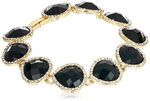 Anne Klein Women's Bracelet Flex Pear Stationed, Jet