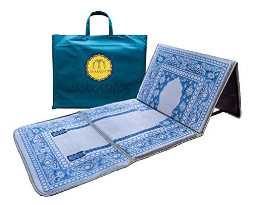 ANAKASHOP - Tapis de prière & méditation avec Dossier, siège Confort rembourré, Sac Transport Facile (Beige)