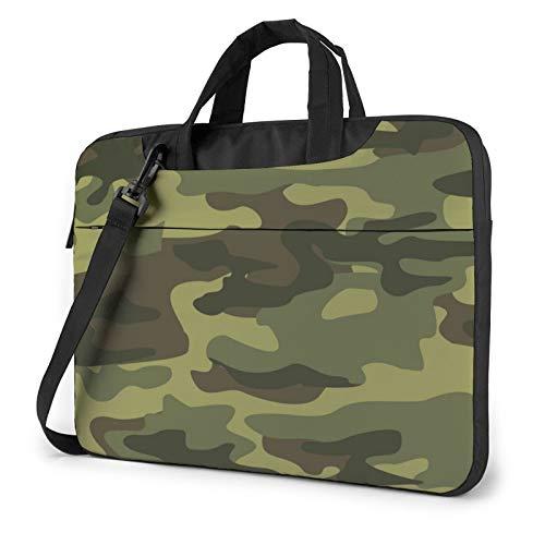 Pattern Camouflage Laptop Shoulder Messenger Bag,Laptop Shoulder Bag Carrying Case with Handle Laptop Case Laptop Briefcase 13 Inch Fits 13 inch Netbook/Laptop