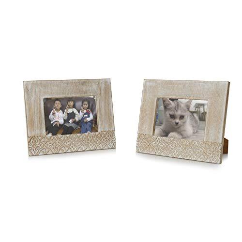 OuXean 2 piezas de marco de fotos vintage para decoración del hogar,...