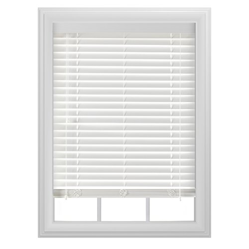 "Bali Blinds 2"" Faux Wood Corded, 34x64"", White"