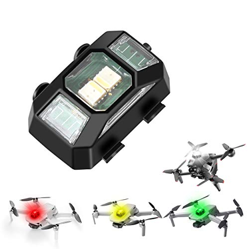 STARTRC Drone Strobe Light, Antikollisionsbeleuchtung Nachtflug Signallichter mit 4 Farben, leichtes Drohnen LED Blitzlicht für DJI FPV Drohne, Mavic Mini 2, Mavic Air 2, Mavic 2, Holy Stone