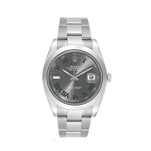 Rolex Datejust 126300 - Reloj de pulsera de acero inoxidable con números romanos (41 mm)