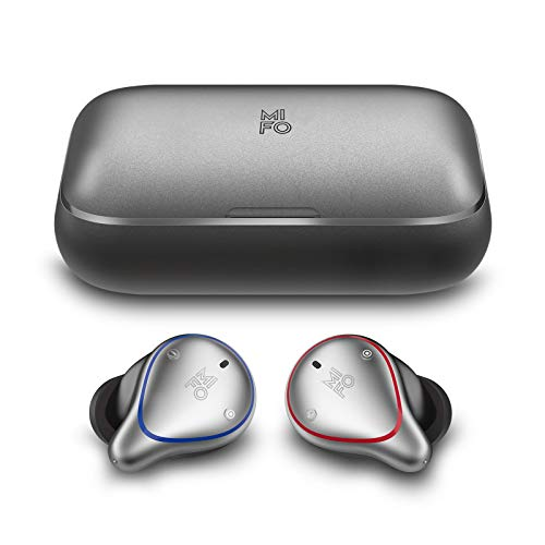 MIFO O5 Plus True Wireless Earbuds TWS, Bluetooth 5.0 Wireless Sport Headphones with 2600mAh Charging Case,CVC6.0 Deep Bass Wireless Earphones Bulit-in Mic Headset, One-Step Pairing