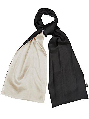 Bruce Field - Echarpe bicolore en soie réversible