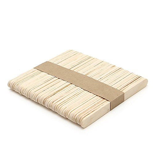 HELYZQ 50Pcs Ice Cream Sticks, DIY Wooden Popsicle Sticks,Plant Labels for Hand Craft Making,93102mm