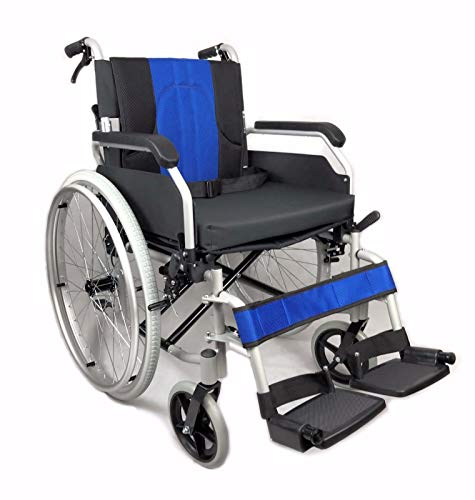 Lightweight Aluminium Folding self Propel Wheelchair with handbrakes and Quick Release Rear Wheels