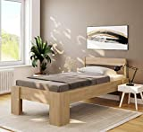 Einzelbett Komfortbett 100x200 erhöhtes Buche Seniorenbett Hotelbett Holzbett Bett - (4128)
