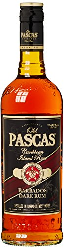 Old Pascas Barbados Dark Rum (1 x 0,7l) - echter karibischer Premium Rum aus Barbados, der Wiege des karibischen Rums - leicht, elegant und mild