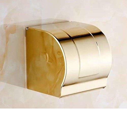 Europäische vergoldete Toilettenpapier Halter/Platz des WC-Papier-Fach/völlig wasserdicht WC-Papier Handtuch Box/WC-Rasen-Fach-B