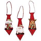 SOIMISS 3Pcs Weihnachtskrawatten Lustige Pailletten Santa Schneemann Hirsch Krawatten Neuheit Weihnachten Hängenden Ornamente für Weihnachtsferien Kostümzubehör