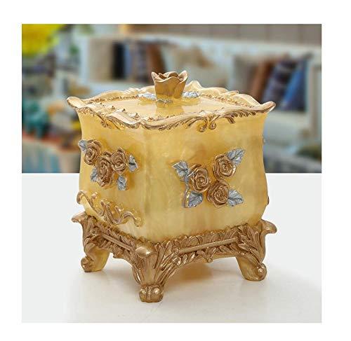 Wattenstaafje, eenvoudige tandenstokerbox, tandenstokerbox voor het huishouden, opbergdoos voor het creatieve vakje goud