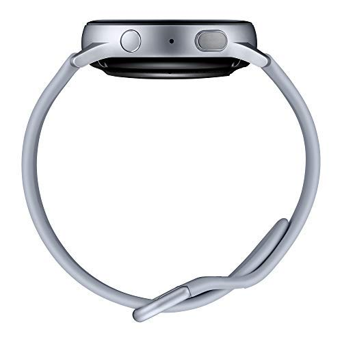 Samsung Galaxy Watch Active2 Smartwatch Bluetooth 40 mm in Alluminio e Cinturino Sport, con GPS, Sensore di Frequenza Cardiaca, Tracker Allenamento, IP68, Argento (Aluminium Silver), Versione Italiana