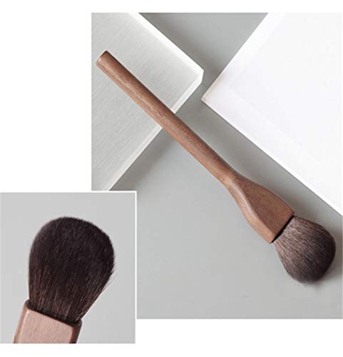 Hffbyvty Walnussholz Make-Up Pinsel, Große Lose Puder Pinsel Flame Rouge Pinsel Super Soft Trimming...