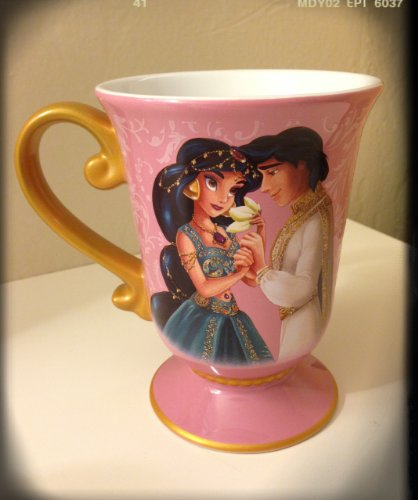 Disney Store Disney Fairytale Designer Collection Princess Jasmine and Aladdin Mug/Coffee Cup