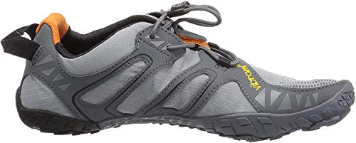 Vibram FiveFingers Herren V-Trail Traillaufschuhe, Grau (Grey/Black/Orange Grey/Black/Orange), 40 EU