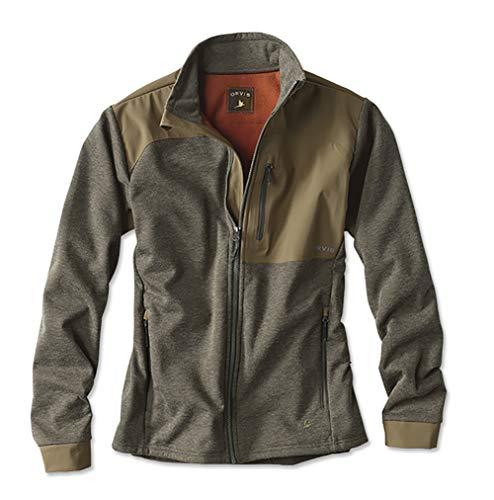 Orvis Men's Hybrid Wool Fleece Jacket, Olive Heather, Medium