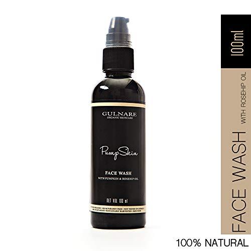 Gulnare Skincare PumpSkin Face Wash, Natural Face Wash for Oily Skin, 100ml