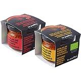 LA PASTORA   Producto Gourmet   Pack/ 2 Tarros de Perlas de Pimentón Ecológico   Ahumado + Picante   Tarros de 50 gr.   Pimentón 100% Natural   Ideal para Tus Platos   Pimentón Español