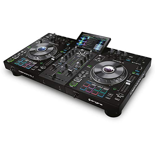Denon DJ PRIME 2 – Standalone Smart DJ Console with 2 Decks, WIFI Streaming, Touch Capacitive Jog Wheels and 7-Inch HD Touchscreen