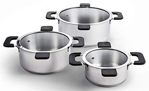 Ozeri Multi-Size 6-Piece Inductive Pot Set, Stainless Steel