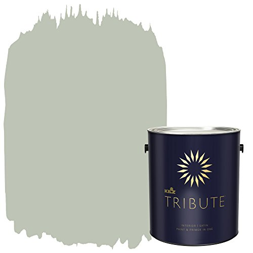 KILZ TRIBUTE Interior Satin Paint and Primer in One, 1 Gallon, Loden Frost (TB-73)