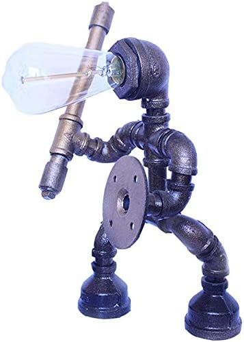 AXWT Edison Robotic Water Pipe Table Fresno Mall Industrial L Ranking TOP9 Iron Rust Lamp