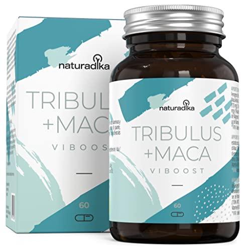 VIBOOST TRIBULUS TERRESTRIS PURO + MACA ANDINA | 3 Acciones para HOMBRES: TST PWR, VIGOPULSE, ENERTOP | 8 ingredientes: Extractos Súper Concentrados, Fenogreco, Zinc, Magnesio, Vitaminas hombre
