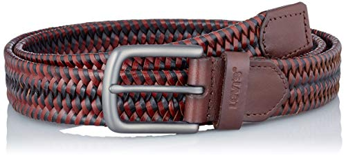 Levi's Woven Leather Stretch Belt Cinturn, marrón, 95 cm para Hombre