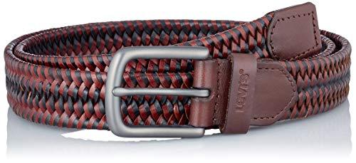 Levi's Woven Leather Stretch Belt Cinturn, marrón, 90 cm para Hombre