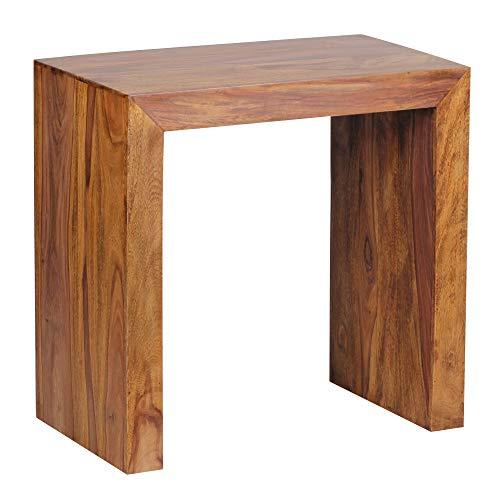 FineBuy Tavolino Legno Massello Sheesham 60 x 60 x 35 cm | Tavolo Soggiorno Stile Country | Tavolo Divano Prodotto Naturale | Tavolino da caffè Rettangolare