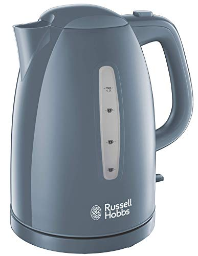 Russell Hobbs 21274 Textures Electric Kettle with Rapid Boil and Perfect Pour Spout, 1.7 Litre, Grey