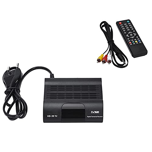 Lightofhope HD 1080P Pantesat HD99 DVB T2 Sintonizador de TV Digital H.265 Receptor de TV Full HD DVBT2 Decodificador WiFi Receptor DVB-T Enchufe de la UE