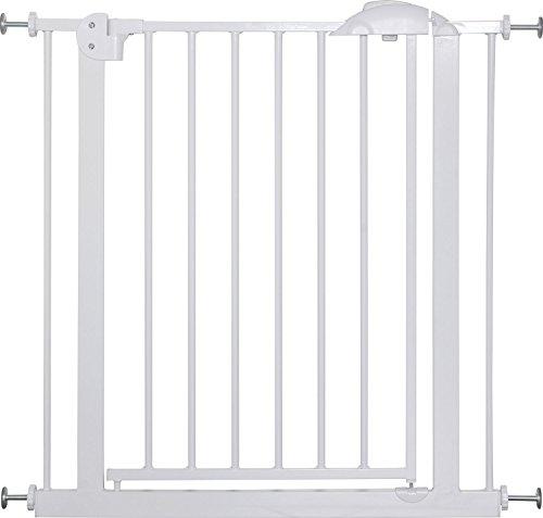 IB-Style - Cancello di sicurezza/Cancelletto securella MIKA | 75-175 cm | Auto-Close| 90° fissazione | metallo bianco | ampiezza 150-160 cm