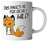 vanVerden Tasse Fox Devils Wild Fuchsteufelswild Fuchs Teufels Wild Anime Mug, Farbe:Weiß/Bunt
