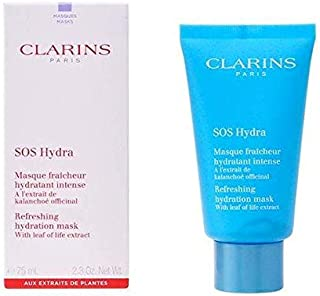 Clarins Sos Hydra Refreshing Hydration Mask for Women, 2.3 Ounce