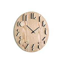 Umbra Shadow Wall Clock, Decorative Wooden Wall Clock, Made from Natural Wood, Doubles as Wall Décor, (16¼ inch Diameter)