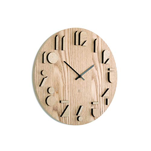 Umbra Shadow Wanduhr, Holz, Natural,